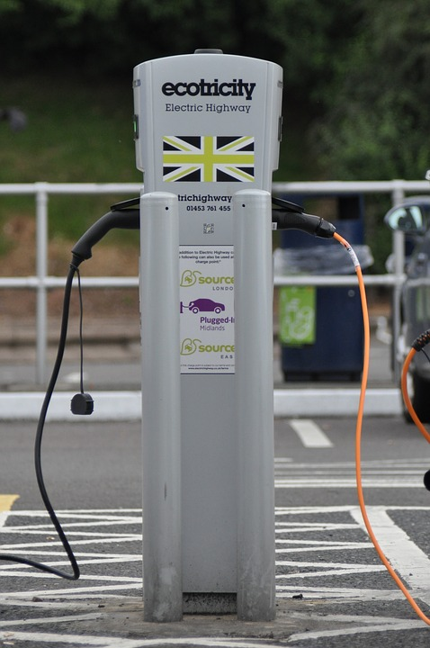 Charge Point with U.K Flag